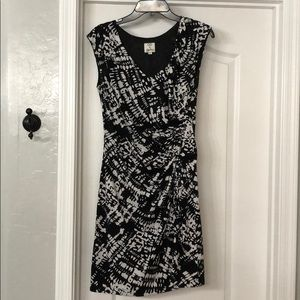 OC Black and White Stretch Mesh Print Dress
